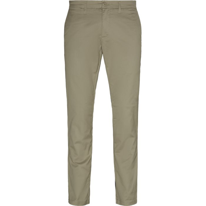 Trousers - Slim - Sand